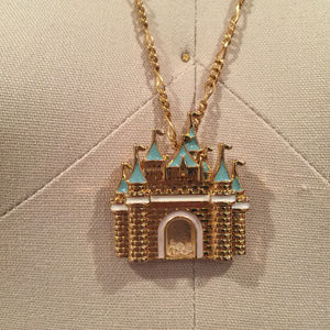 Disney couture cinderella castle necklace kidada
